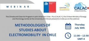 Webinar: Methodologies of studies about Electromobility in Chile