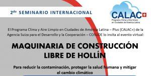 2° Seminario Internacional: MAQUINARIA DE CONSTRUCCIÓN LIBRE DE HOLLÍN